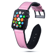 цена на Leather and Silicone Watch Band for Apple Watch Band 42mm 38mm 44mm 40mm Strap Iwatch Bands for Apple Watch Series 4/3/2/1