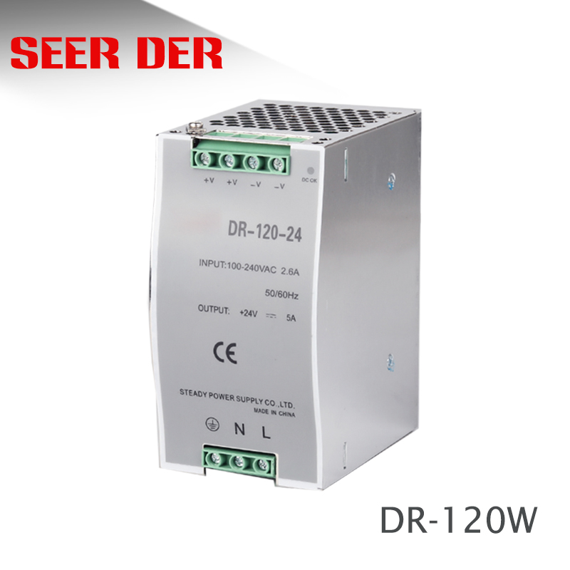 DR-120-12 120w 12 volt 10a electronic transformer CE approved 12v din rail power supply 120w image