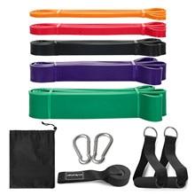 Set di 5 cinturini di resistenza Set di elastici per allenamento della forza in palestra fasce elastiche per esercizi di resistenza per attrezzature per il Fitness