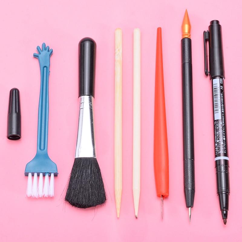 7Pcs Scratch Art Tools Set DIY Drawing Scratch Arts Set Stick Scraper Scratch Pen Black Brush Art Painting Papers Boards Tools