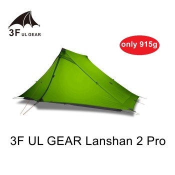3F UL Gear Lanshan 2 Pro 2P Camping Tent 3-Season 20D Double-sided Silicon Coated upgrade new Silnylon No Pole Ultralight double 20d silicon coated four seasons ultra light camping outdoor tent
