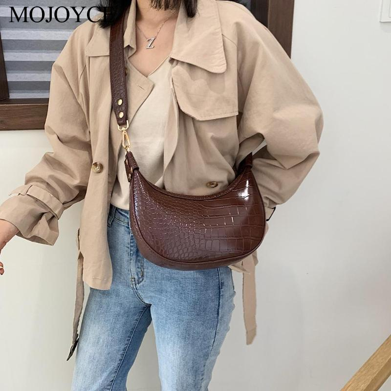 Stone Pattern Retro PU Leather Crossbody Bags For Women 2019 Small Shoulder Messenger Bag Lady Travel Phone Handbags And Purses