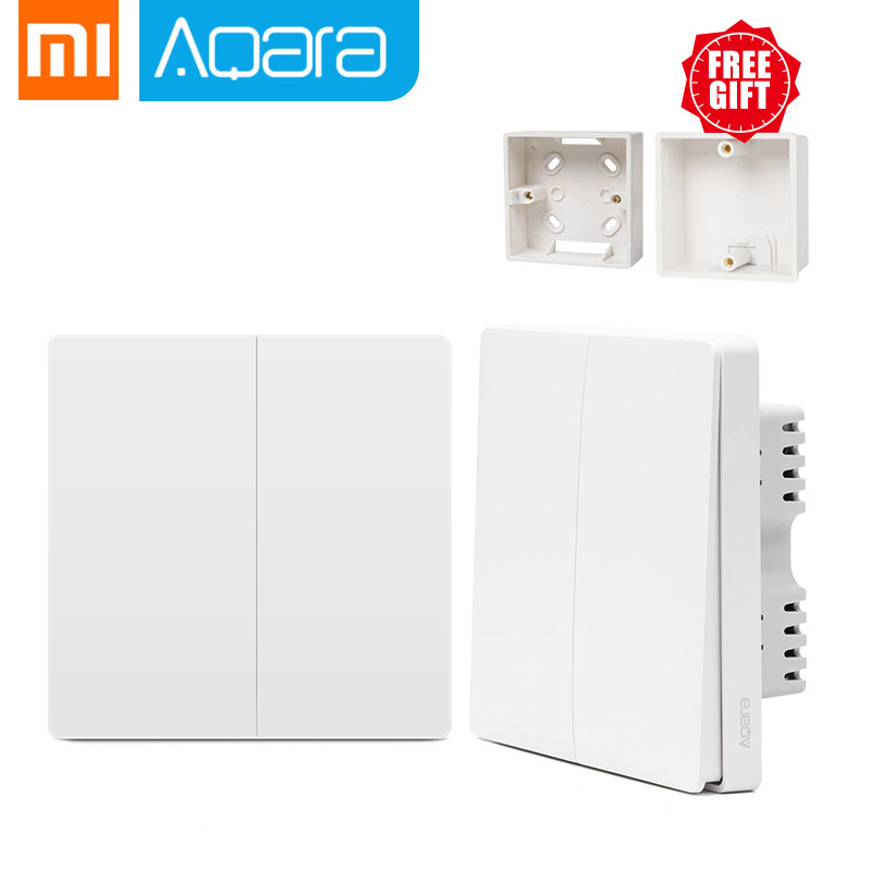 Xiaomi Aqara Switch Smart Light Control ZiGBee Wifi Wireless Wall Switch Via Smartphone Remote Smart Home Work With Mijia App