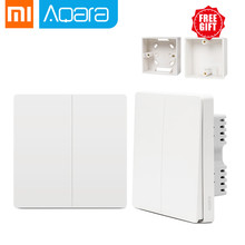 Xiaomi Aqara Switch Smart Light Control ZiGBee wifi wireless Wall Switch Via Smartphone Remote Smart Home