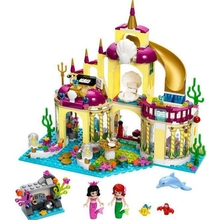 City Friends Princess Ariel Mermaid Undersea Court Royal Celebration Boat Set Building Block Childrens Educational Toys Gifts
