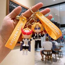 Japan anime keychains my hero academia silicone keychain creative