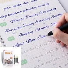 ليو دبوس تانغ الإنجليزية دفتر الكتاب اليد الكتابة المستديرة handgroove الممارسة نسخة الإنجليزية الأبجدية كلمة رسائل السيارات يتلاشى يمكن إعادة استخدامها