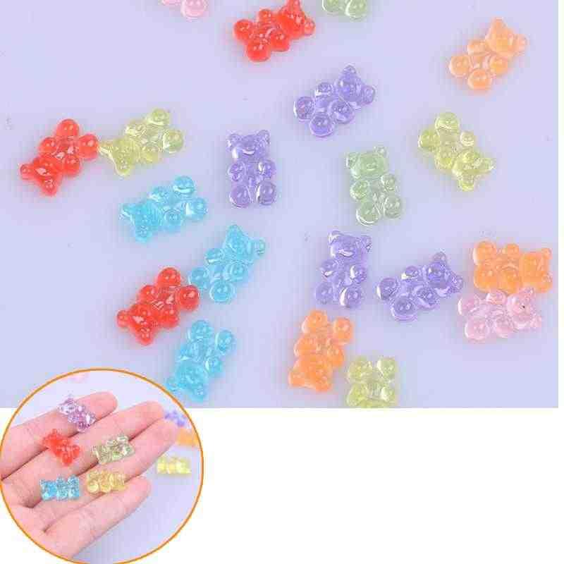 Rắc Gấu Mini Kẹo Polymer Chất Nhờn Hộp Đồ Chơi Cho Trẻ Em Nhựa Quyến Rũ Lizun Mô Hình Đất Sét DIY Bộ Phụ Kiện Trẻ Em Quà Tặng