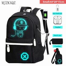Светящийся школьный ранец Mjzkxqz для мальчиков-подростков, рюкзак с USB-зарядкой и защитой от кражи для ноутбука