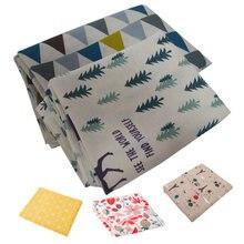 Árvore de natal veados impresso toalha de mesa nodic algodão linho casa pano de mesa sala de jantar capa de mesa decorações do casamento presentes do festival