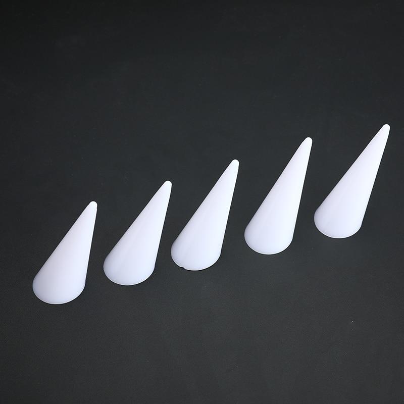 5pcs/set Single Finger Cone Fingertip Acrylic Display Stand Showcase Ring Box Storage Rings Jewelry Holder Organizer