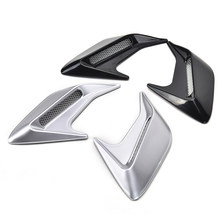 2 Stuks Decoratieve Auto Auto Simulatie Side Vents Auto Side Vent Air Flow Fender Intake Sticker(China)