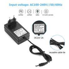 21V 2A 18650 lityum pil şarj cihazı DC5.5mm abd ab tak güç adaptörü şarj için 18490 14650 14514430 Li-ion pil paketi