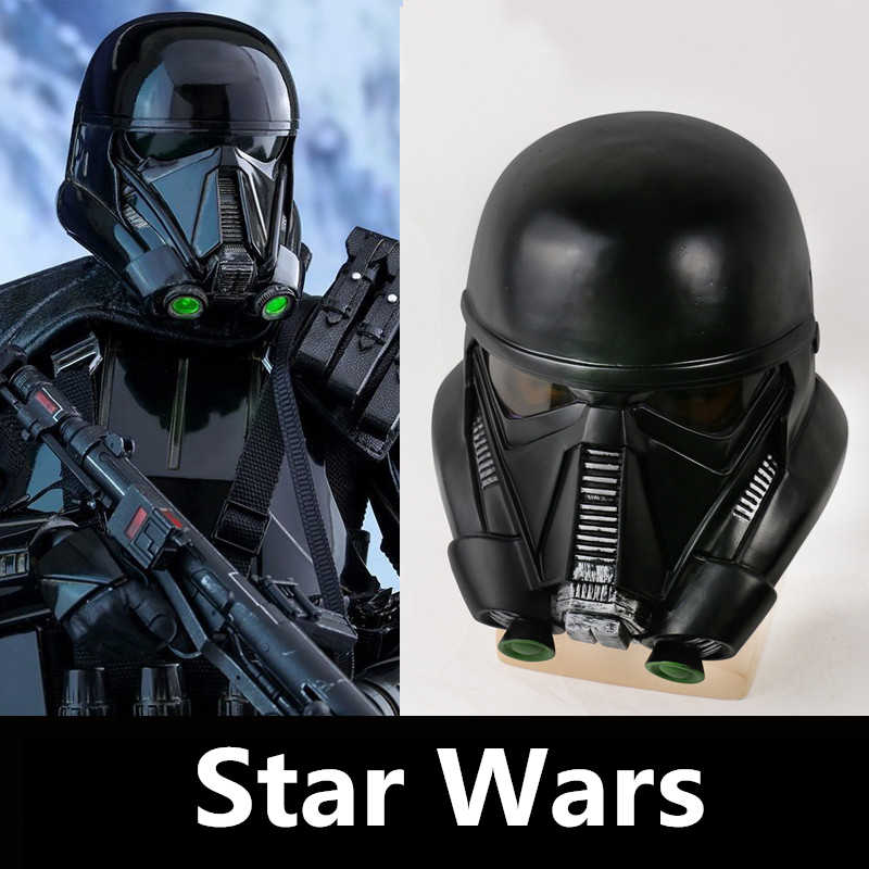 Novo Anime Star Wars Rogue One: UMA História Da Morte de Star Wars Trooper Especialista Cosplay Máscara Capacete Preto O Storm Tropas PVC Máscaras Do Partido Trajes de Halloween Prop