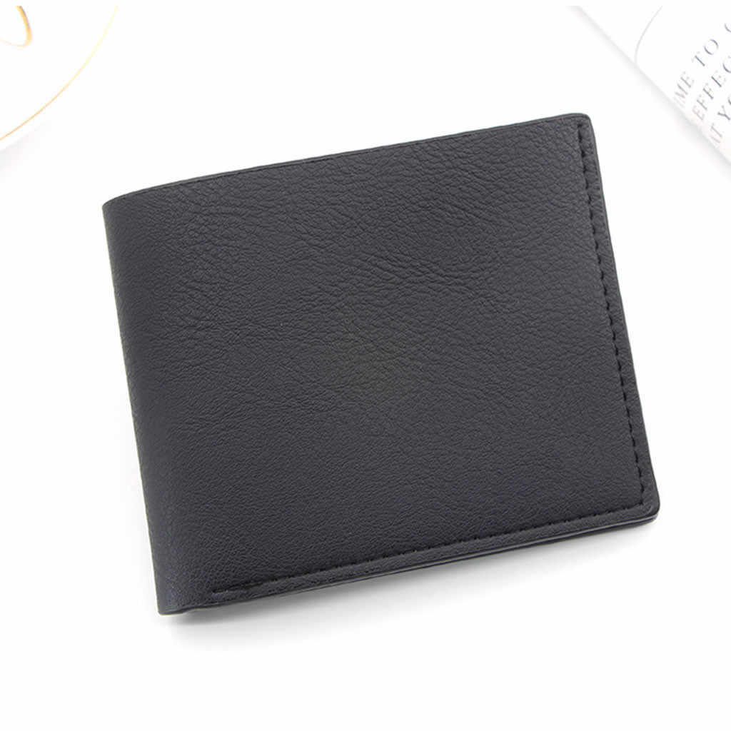 #H30 Men Leather Brand Luxury Wallet Luxury Brand Short Wallets Slim Male Purses Credit Card Money Bag Portomonee Carteria