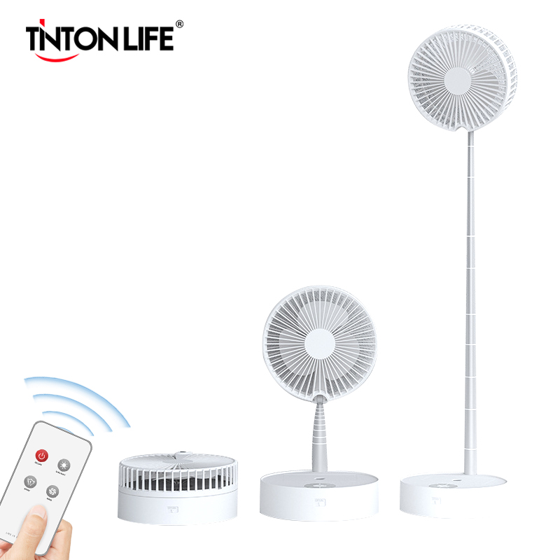 Household Fan Height Adjustment Aluminum Alloy Rod Retractable Compact Table Fan For Easy Storage Humidification Night Light