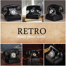 Retro resin craft ornaments Photography retro props Dirty to do the old landline phone home office furniture decoration(China)