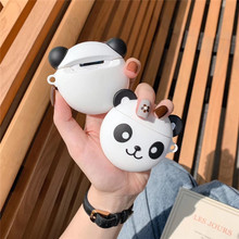 For AirPod 2 Case 3D Panda Cartoon Soft Silicone Wireless Bluetooth Earphone Cases Apple Airpods Cute Cover Funda
