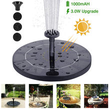 Solar Floating Fountain Yard Garden Water Fountain Pool Pond Decoration Solar Panel Powered Water Pump Patio Lawn Outdoor Decor