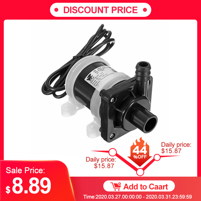 DC 12V Solar Powered Water Pump Motor 700L/H Brushless Magnetic Submersible Water Pumps