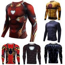 NEW 2019 Iron Man Rashgard Running Shirt Flash Men T-