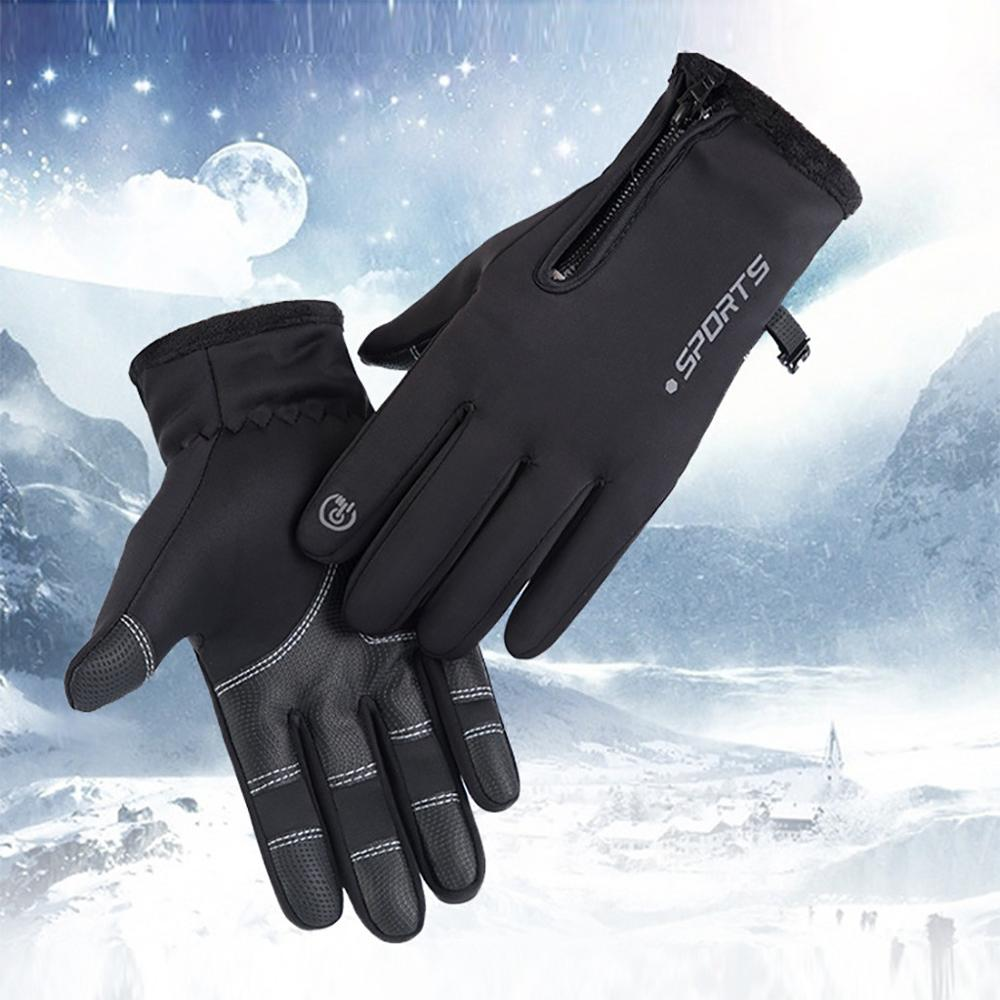 Winter Gloves Thickened Tactical Touch Screen Leather Thermo Gloves перчатки Перчатки тактические Thermo Handschoenen #TN21