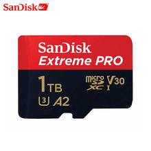SanDisk 1TB -tarjeta de memoria microSD Extreme Pro para gopro, 64GB, 128GB, 1TB, 512G, Clase 10, A3, A2, V30, tarjeta flash tf de 1TB
