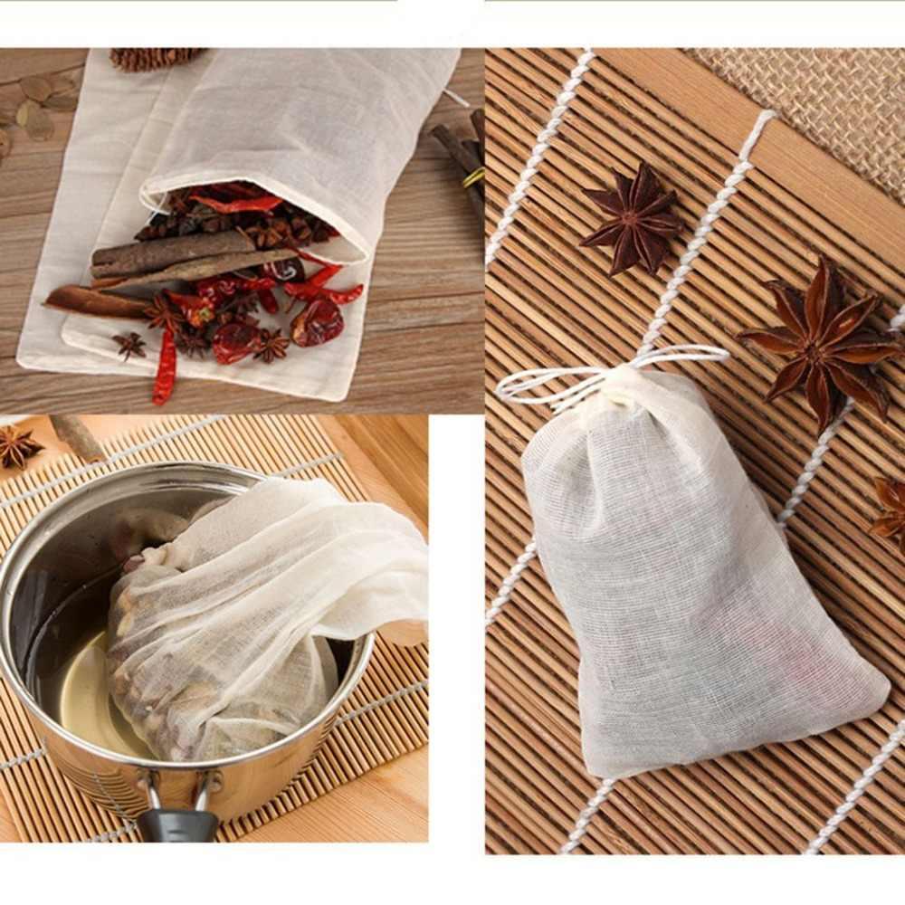 30x35cm 1Pcs Non-woven Papier Lege Trekkoord Theezakjes Heat Seal Filter Herb Losse Thee bag Pouch