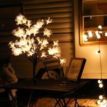 USB Powered LED Cherry Tree Light Branch Optic Fiber Flower Tree Lamp Table Light Night Light Wedding Party Christmas Decor D30