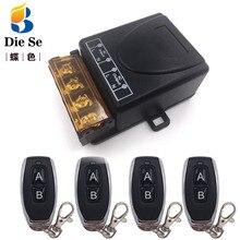 Controle remoto universal 433mhz, ac 110v 220v 30a 1ch rf, receptor de relé e transmissor para garagem universal e controle da porta
