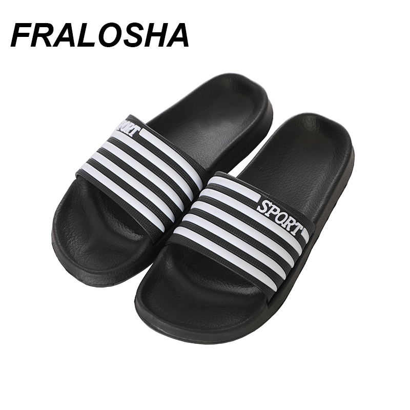 2019 New Summer Couple Bathroom Striped Slippers Men And Women Indoor And Outdoor Household Slippers Non-slip Floor Slippers