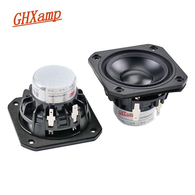 GHXAMP 2.5 inch Full Range Speaker Unit 4ohm 15W Neodymium Ceramic Alumina Full frequency Loudspeaker Bluetooth Speaker DIY 2pcs