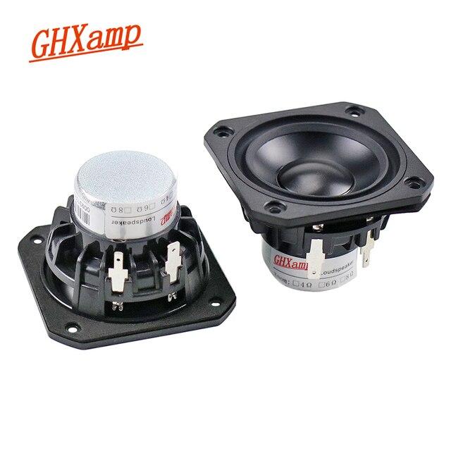GHXAMP 2.5 pouces gamme complète haut parleur 4ohm 15W néodyme céramique alumine pleine fréquence haut parleur Bluetooth haut parleur bricolage 2 pièces