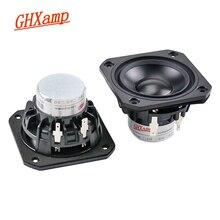 GHXAMP altavoz de gama completa de 2,5 pulgadas, dispositivo de 4ohm, 15W, de cerámica de neodimio, alúmina, de frecuencia completa, Bluetooth, bricolaje, 2 uds.