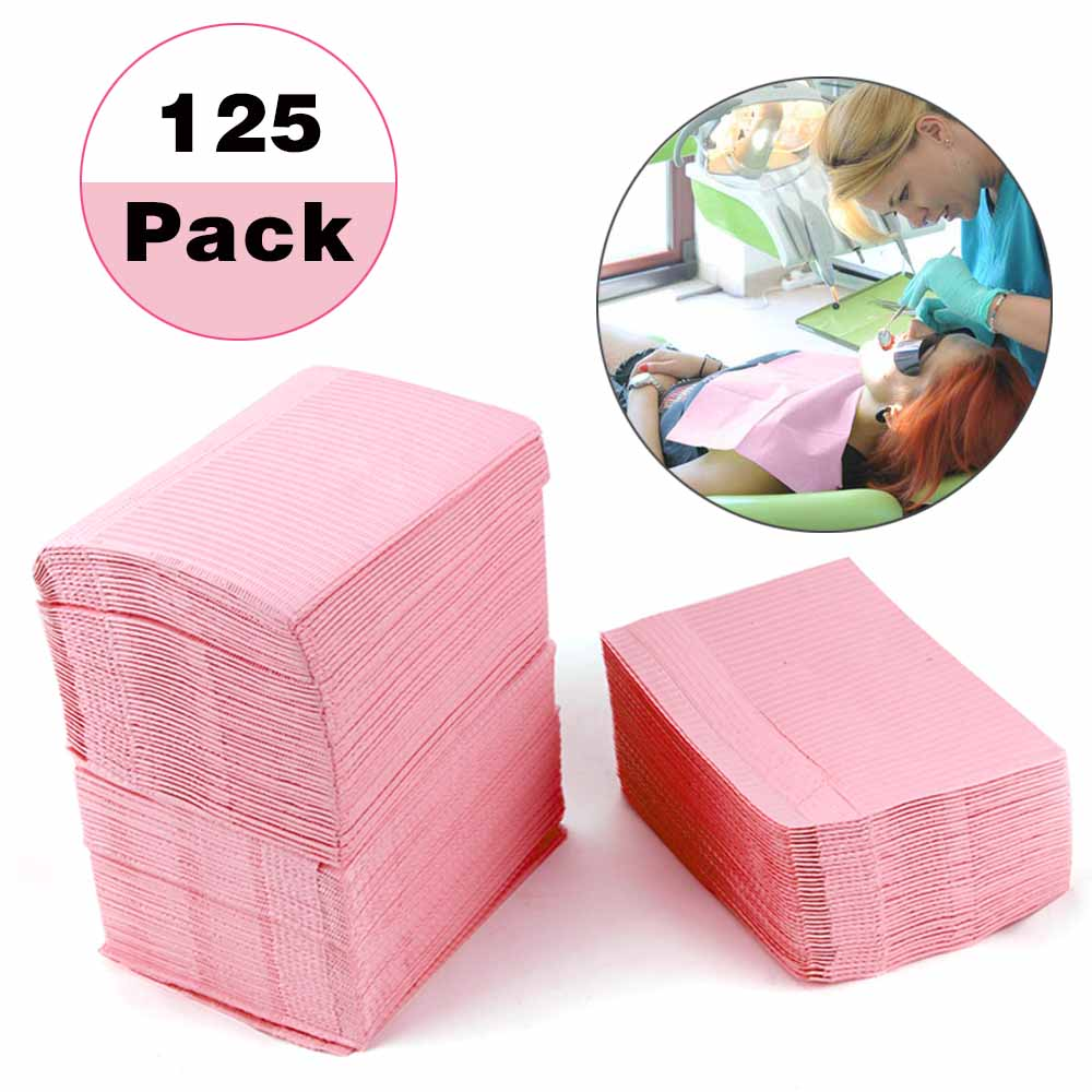 5/125Pcs Dentist Oral Hygiene Medical Paper Dental Disposable Patient Bibs Cleaning For Dentists Cosmetology Medical Paper Scarf