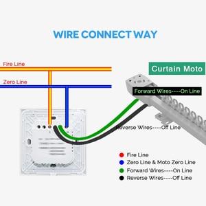 Image 2 - Gratis Verzending Eu Standaard Elektrische Muur Gordijn Controller Smart Home Automation Touch Schakelaar Open Pauze Close Tuya App