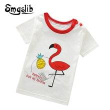 Smgslib Boys & Girls T-shirts Kids Print T Shirt For Children graphic t shirts T-shirt Cotton Tops Clothing clothes  boys clot floral and graphic print buttons henley t shirt