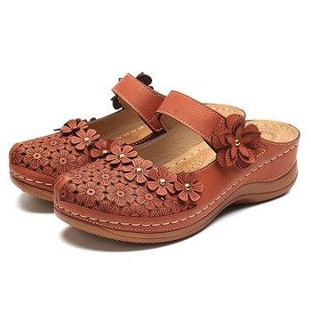 Women Sandals 2019 New Female Shoes Woman Summer Wedge Comfortable Sandals Ladies Slip-on Flat Sandals Platform Women Sandalias 1