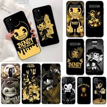 HPCHCJHM Bendy and the ink machine Soft black Phone Case for Samsung S20 plus Ultra S6 S7 edge S8 S9 plus S10 5G топ lost ink plus lost ink plus lo035ewtos38