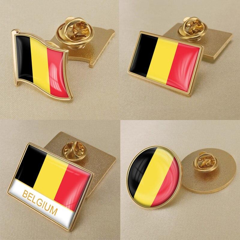 Герб Бельгия бельгийцы карта Национальный флаг Эмблема с национальным цветочным брошь значки нагрудные знаки