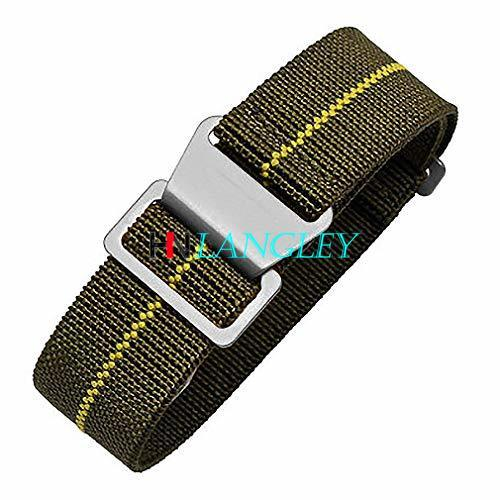 20mm 21mm 22mm Watch Band 60's French Troops Parachute Special Elastic Nato Nylon WatchBand Man's Universal Nylon Watch Strap