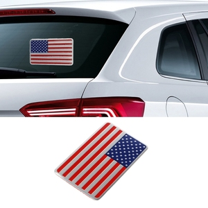 Image 2 - NoEnName_Null Metal American US Flag Car Sticker Logo Emblem Badge For Jeep Bmw Fiat VW Ford