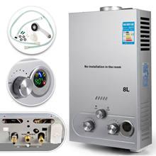 Calentador de agua de Gas Digital de 8L, propano LPG, ahorro de energía eficiente, bajo demanda, calentador de agua sin depósito ampliamente utilizado