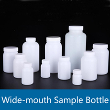 50mL-2000mL Wide-mouth Plastic Sample Bottle HDPE Reagent Laboratory