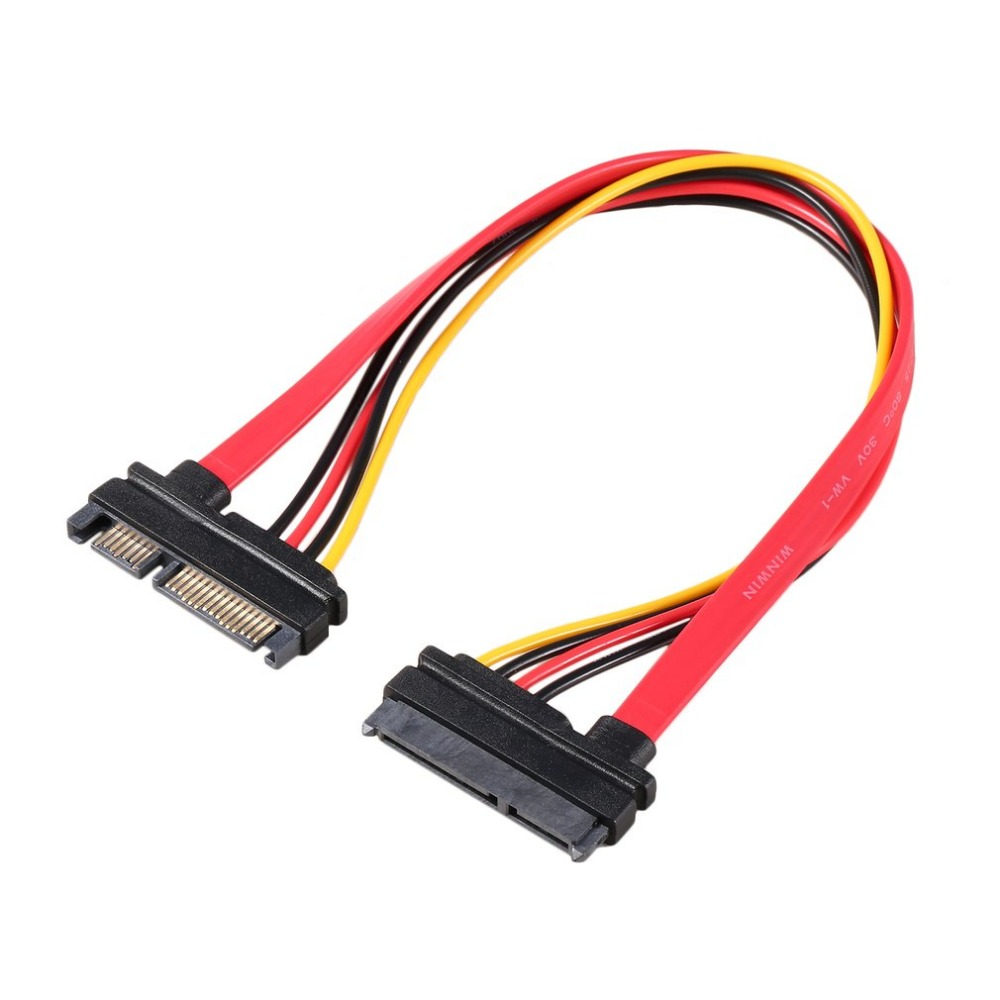 7+15 Pin Serial SATA Data Power Combo Extension Cable 1pc Serial Power Adapter Cable Hot Selling TA SATA To HDD Cable