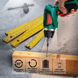Image 5 - LANNERET 7.2V אלחוטי חשמלי מברג ביתי נטענת Twistable ידית