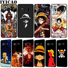 IYICAO One piece luffy Soft TPU Silicone Phone Case for Samsung Galaxy S10 E S9 S8 Plus S6 S7 Edge S10e(China)