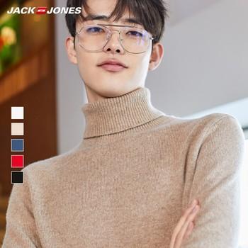 JackJones Mens Woolen Multi-colored Regular fit High-neck Pure Color Knit Sweater  219425517
