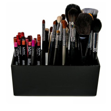 Brush And Liner Makeup Organizer Acrylic Makeup Tools Storage Box 3 Slots Eyebrow Pencil Holder Lipsticks Stand Case