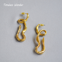 Timeless Wonder Brass Twisted Hook Statement Drop Earrings Women Jewelry Party Punk Gothic Earings Runway Boho Ins Rare 4628